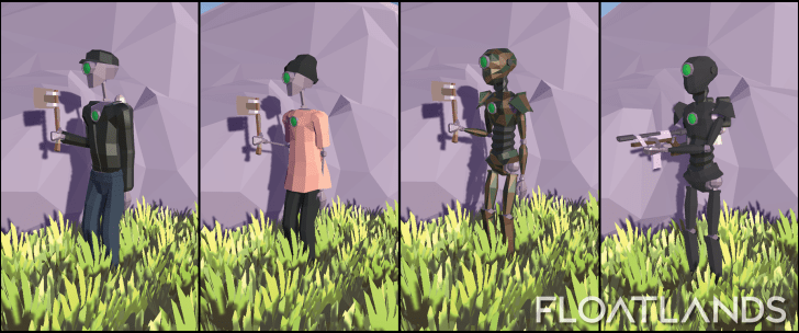 cloth camouflage skins lowpoly floatlands