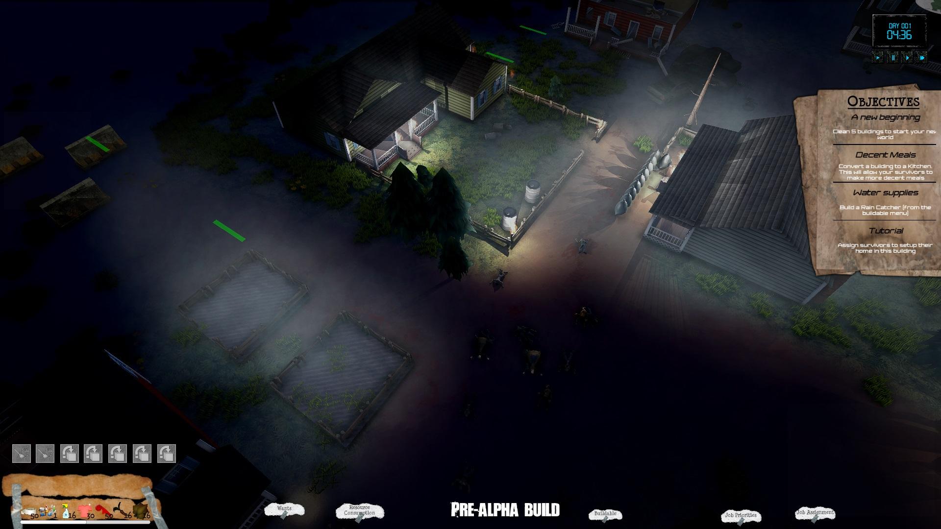 A village at night