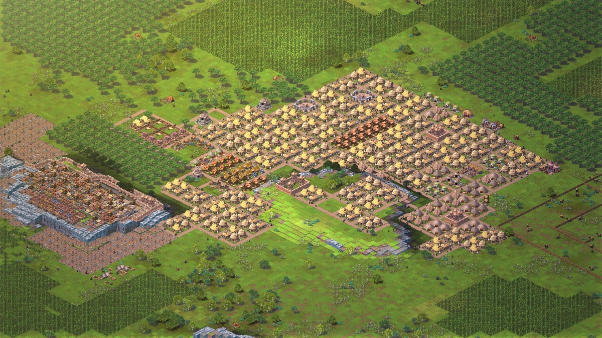 A large city in a multiplayer game.
