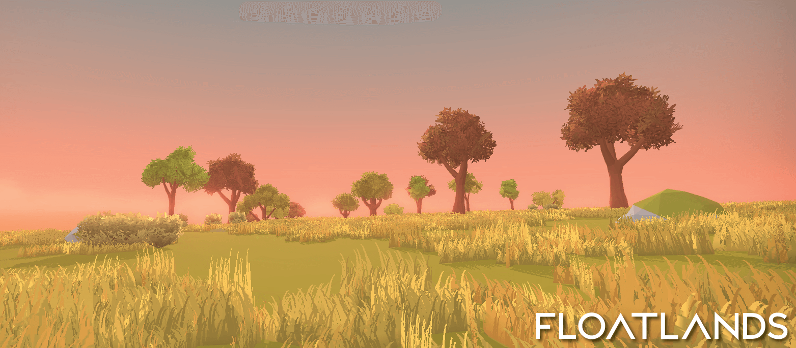 riverbanks trees floating stones lowpoly environment trees floatlands