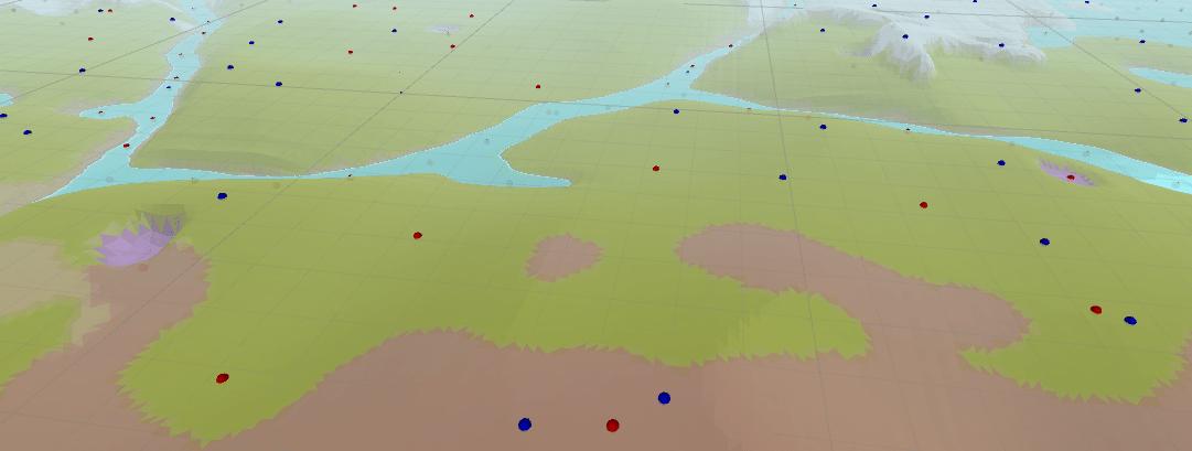 riverbanks trees floating stones minmax terrain lowpoly floatlands