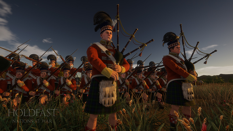 Holdfast NaW - Loud and Glorious. Bagpipers