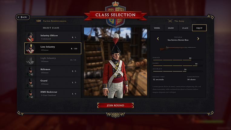 Holdfast NaW - User Interface Equip Firearm [WIP]