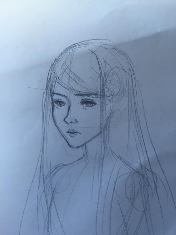 Doll Sketch 1A by FluffexStudios
