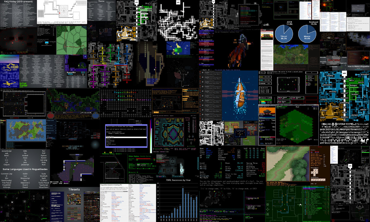 How to Make a Roguelike image collage