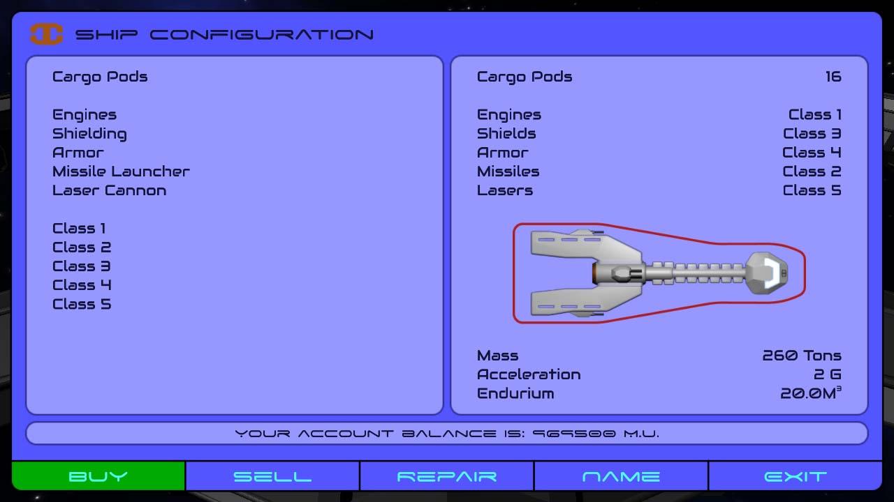 Ship - Configuration