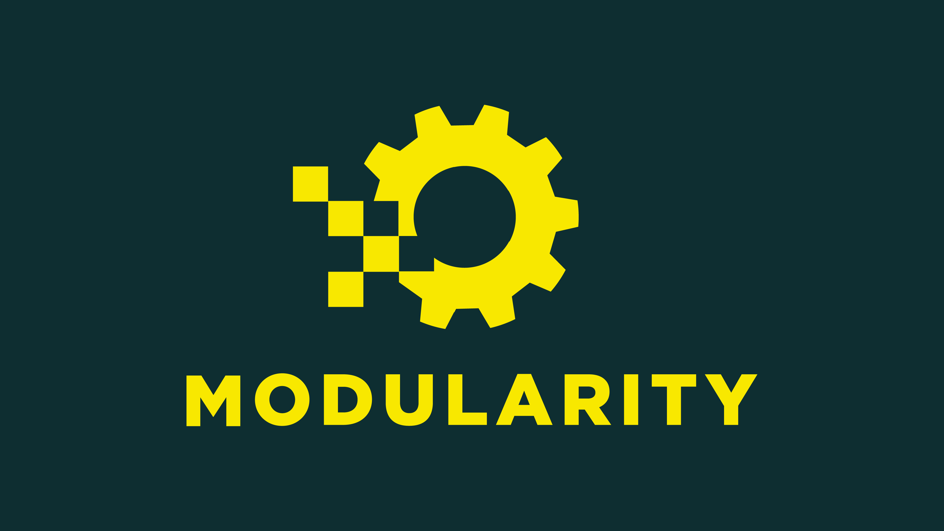 modularity logo top color