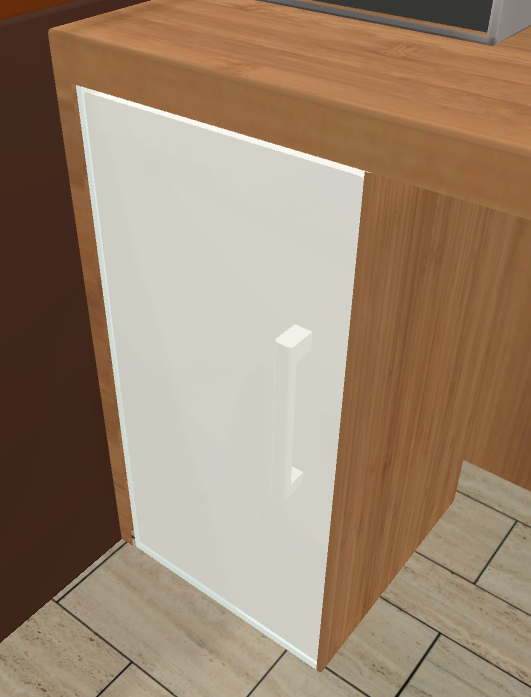 Fridge door in closed statae