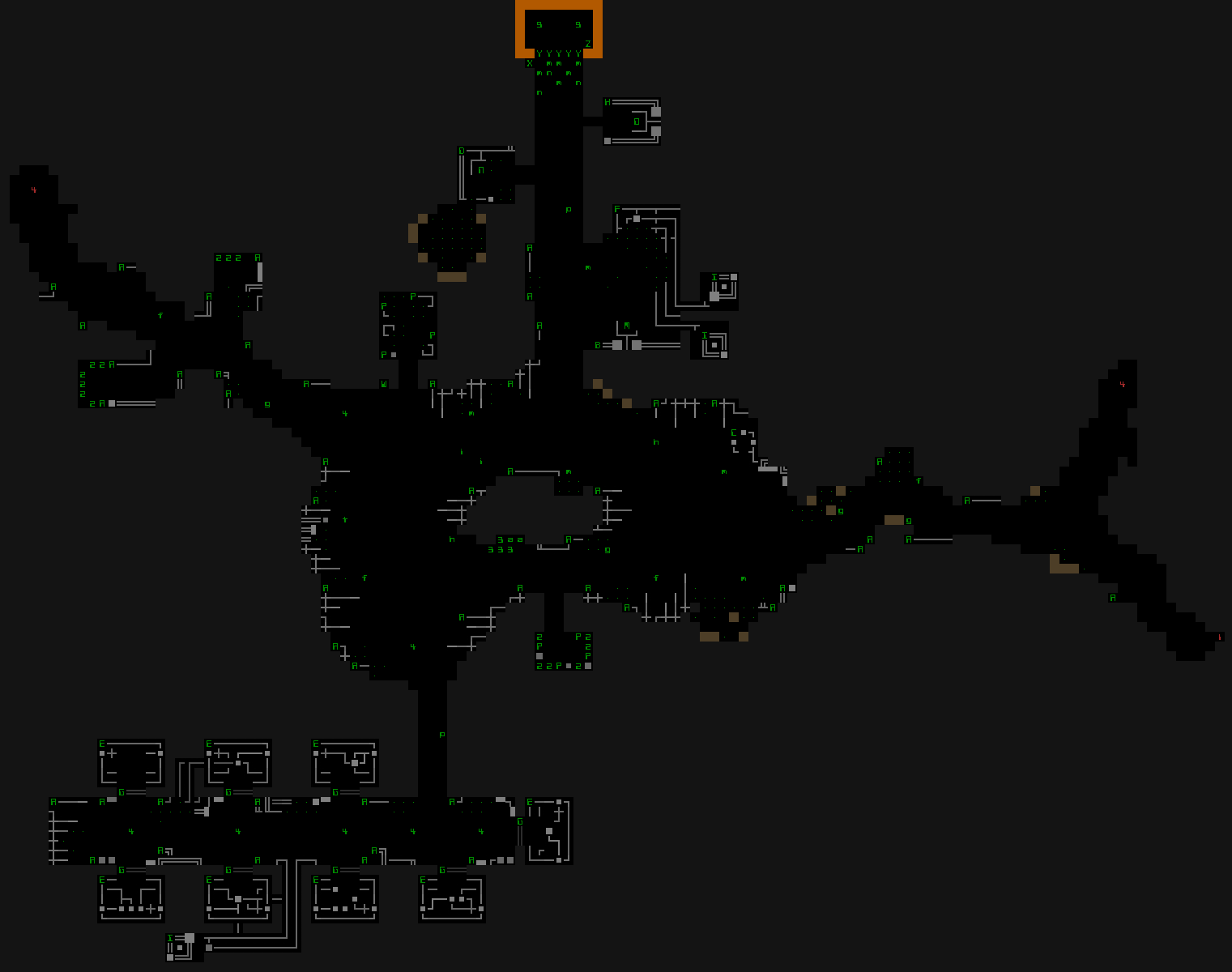cogmind_level_design_exiles_map_prefab_rexpaint_destroyed