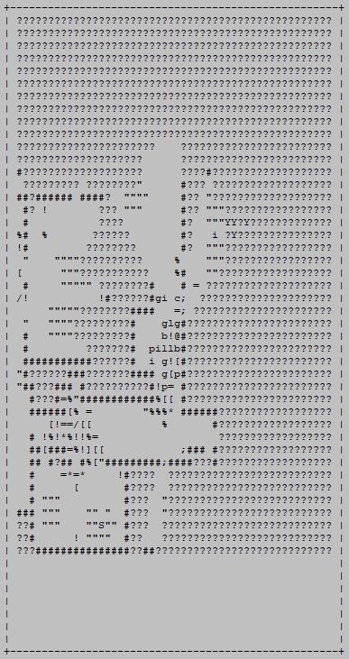 cogmind_scoresheet2_ascii_map_sample_complex_late_game_branch_dogpile
