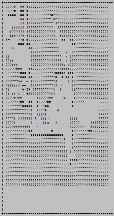 cogmind_scoresheet2_ascii_map_sample_mines_assembled_demolishers