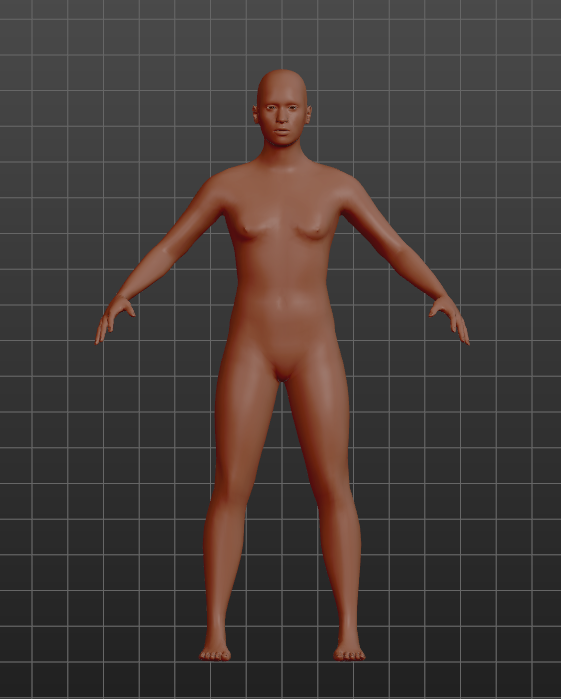 The initial model of Makehuman is really horrific