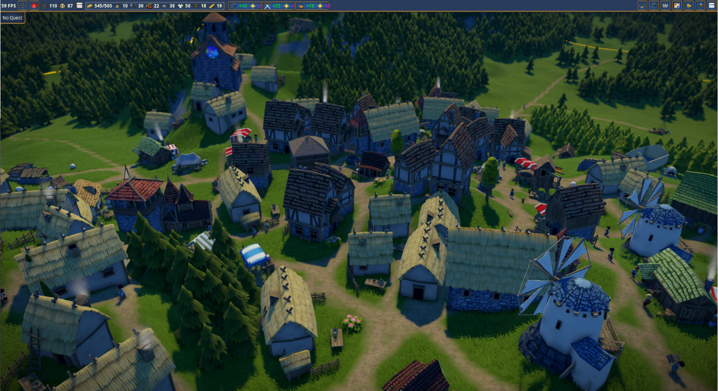 A screenshot from Foundation by Polymorph Games, another fine indie city builder currently in Early Access