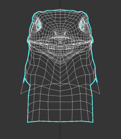 Front View After Bend Modifier