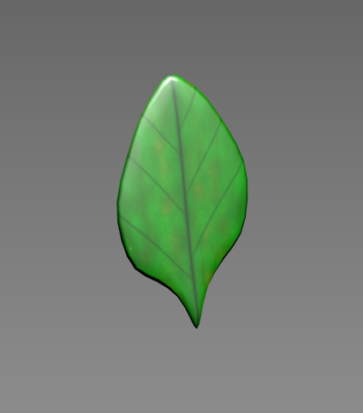 Texture Mapped Leaf