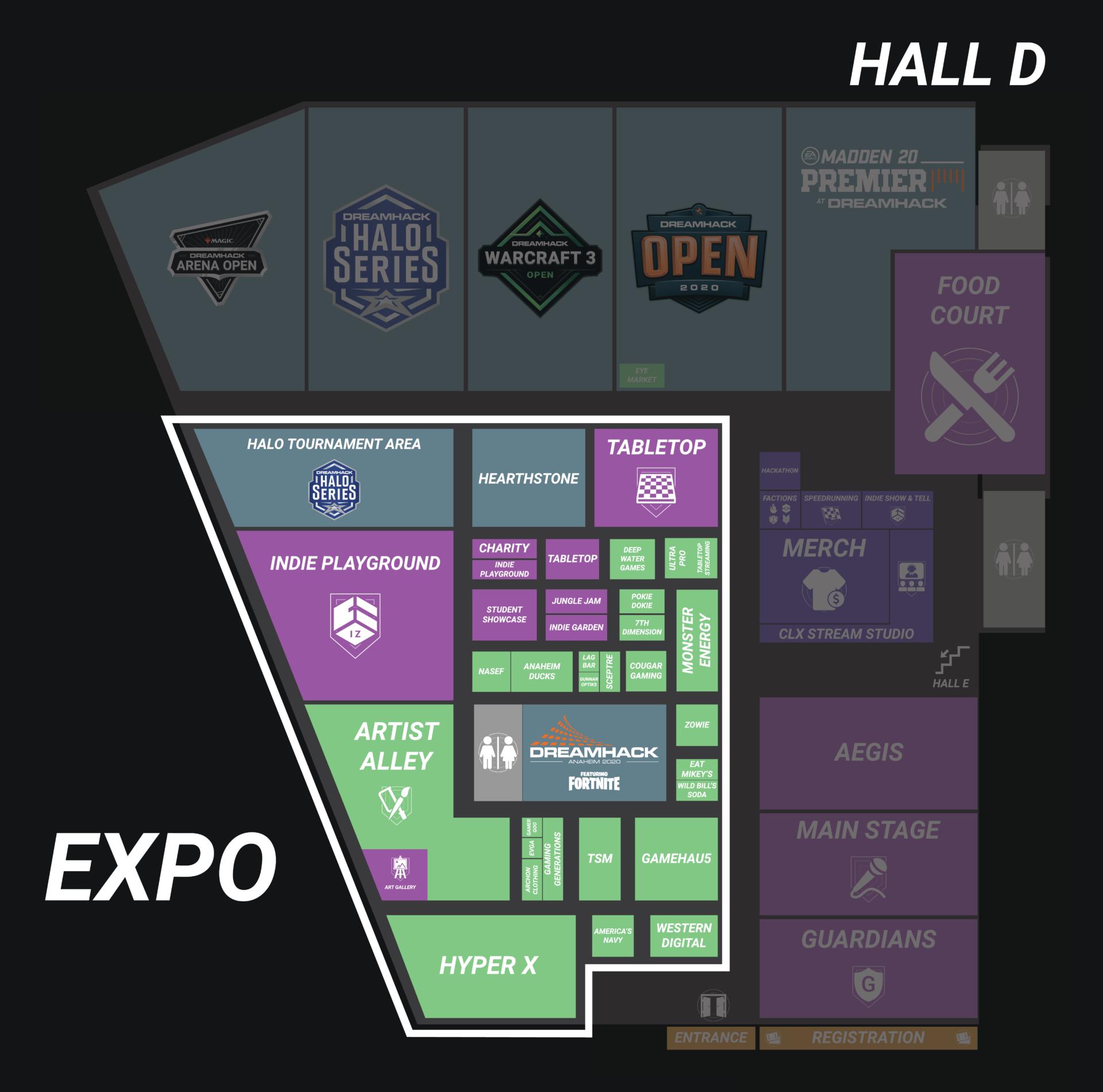 Dreamhack Anaheim Expo map