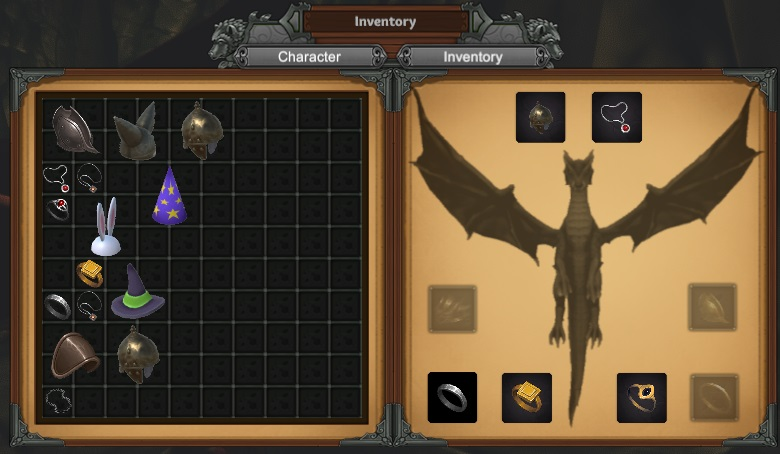 Inventory for a dragon