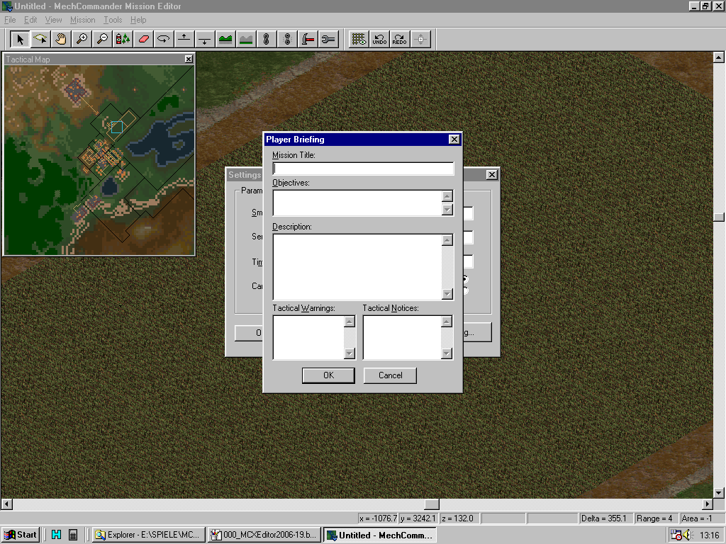MC Map Editor - Mission Briefings