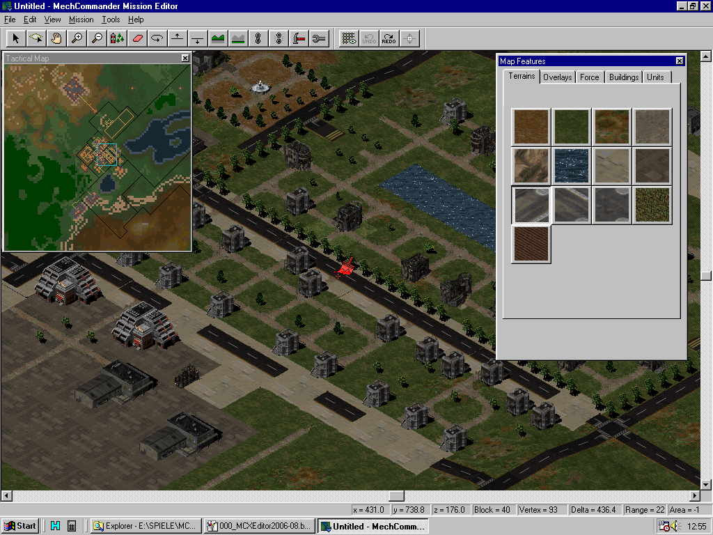 MC Map Editor - City building / Terrain overlays