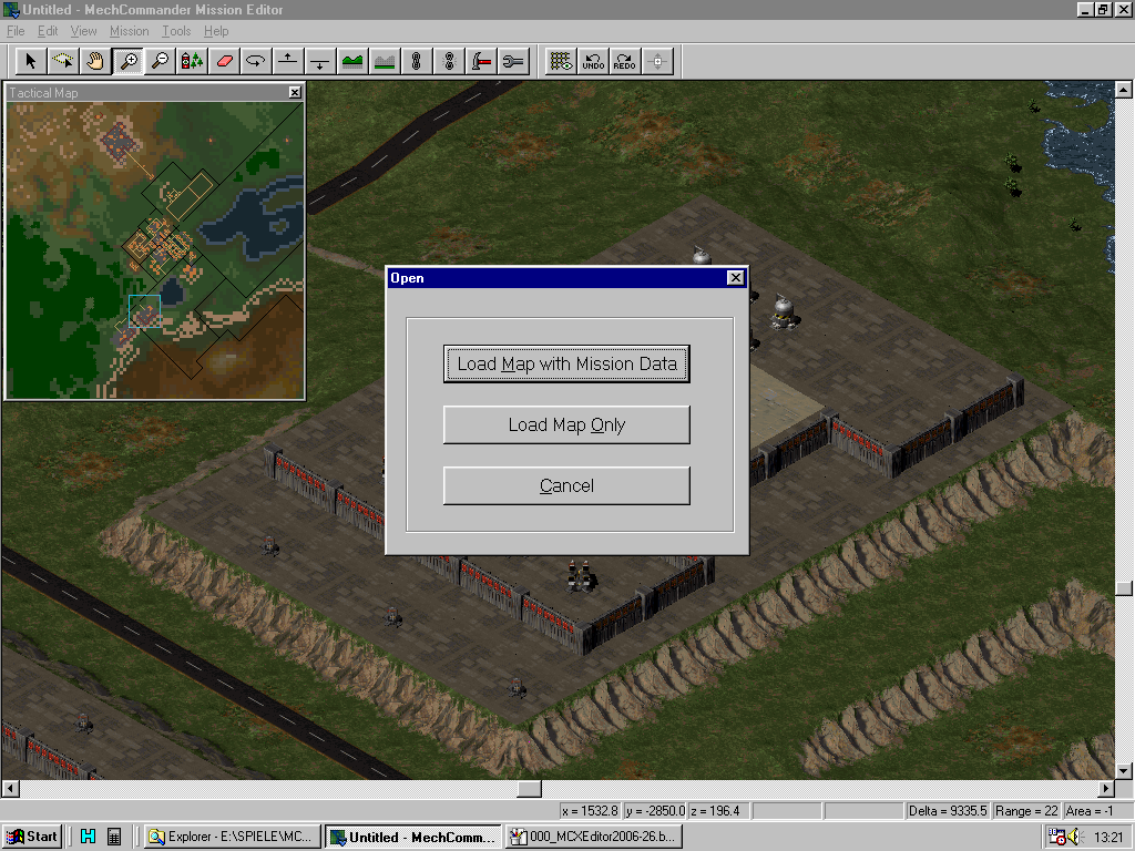 MC Map Editor - Opening or creating Map