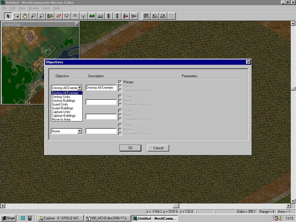 MC Map Editor - Mission Objectives