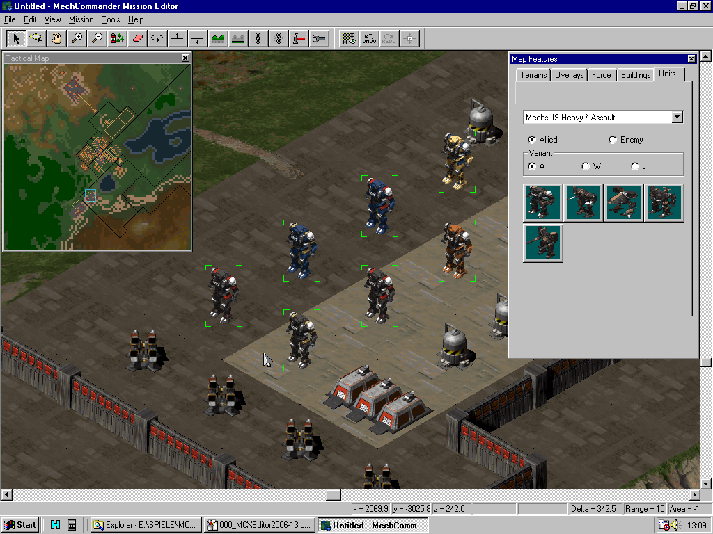 MC Map Editor - Different colored BattleMechs