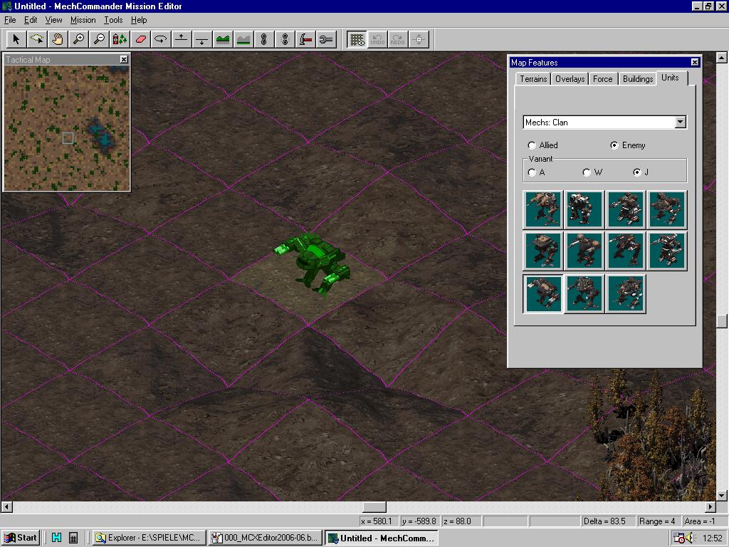 MC Map Editor - Placing units