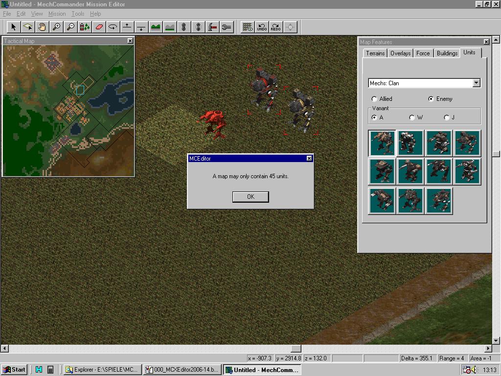 MC Map Editor - Unit limits