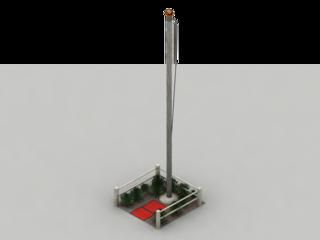 Flag pole modelled