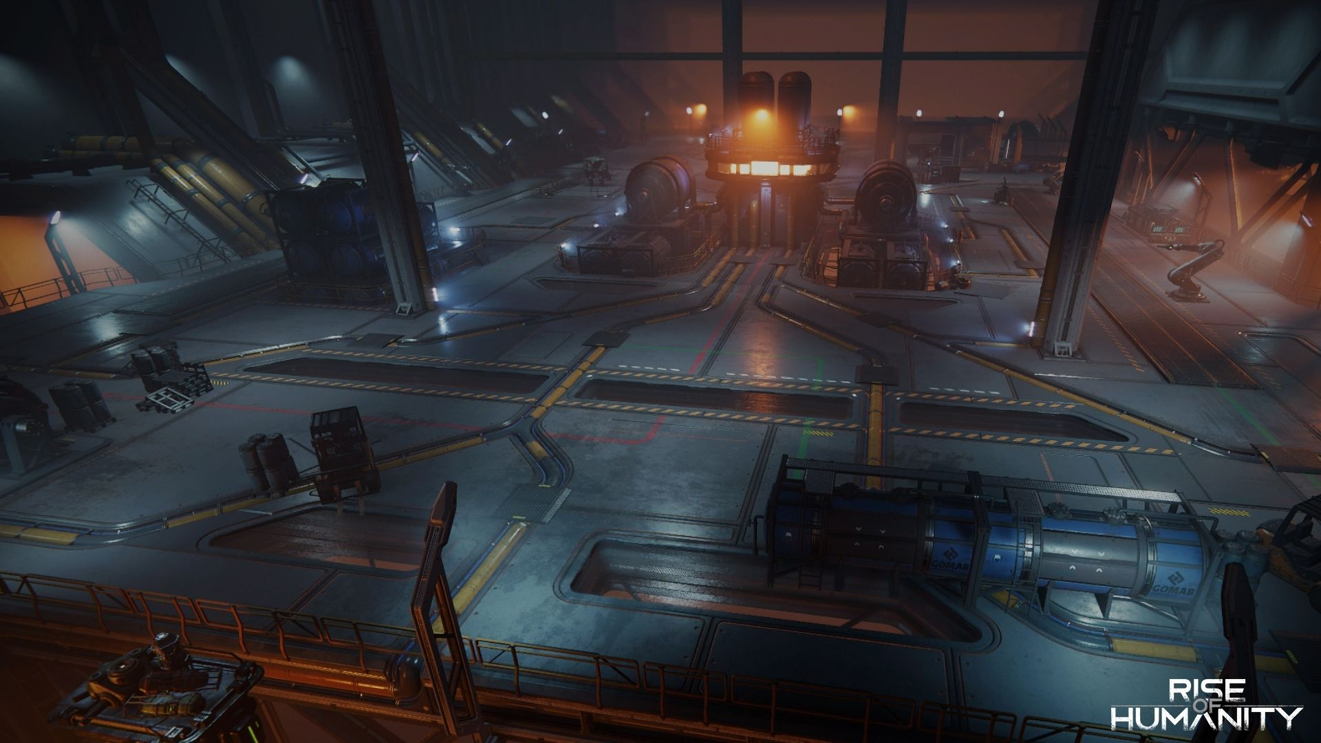 The Factory - another exciting new location in Rise of Humanity with many bots to battle!