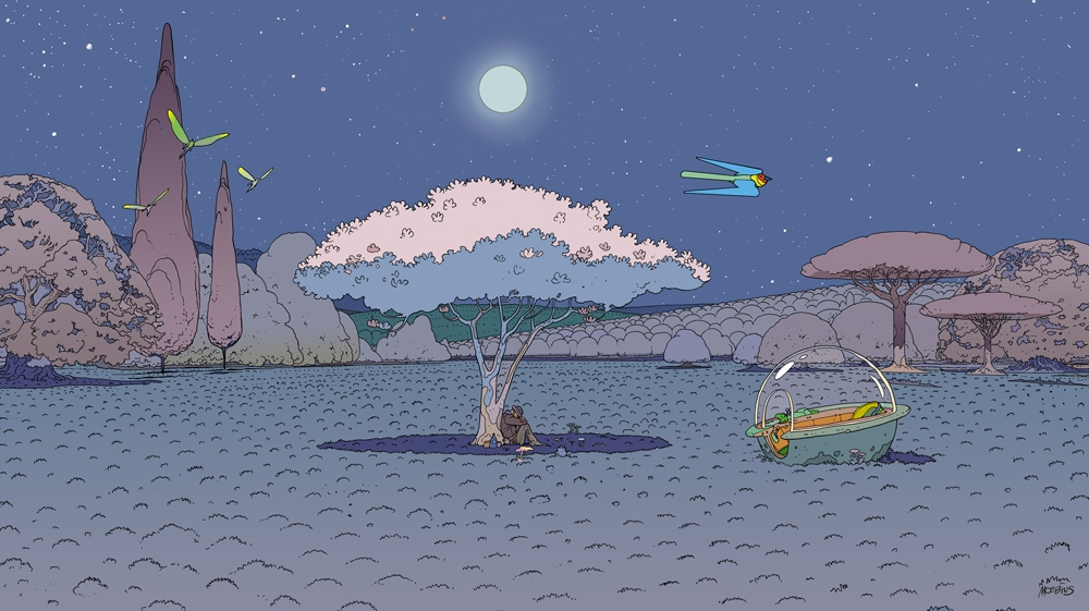 Moebius: Floating citadels and all-city planets