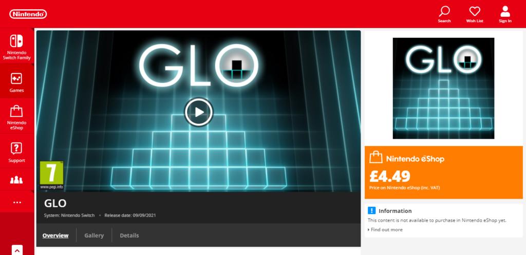 GLO Nintendo eShop