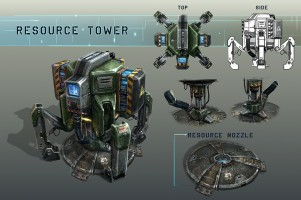 NS2 Resource Tower Concept Art
