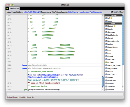 Join #wolfire in IRC