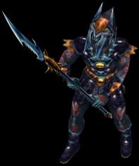 Din's Curse - Dark Elf Warrior