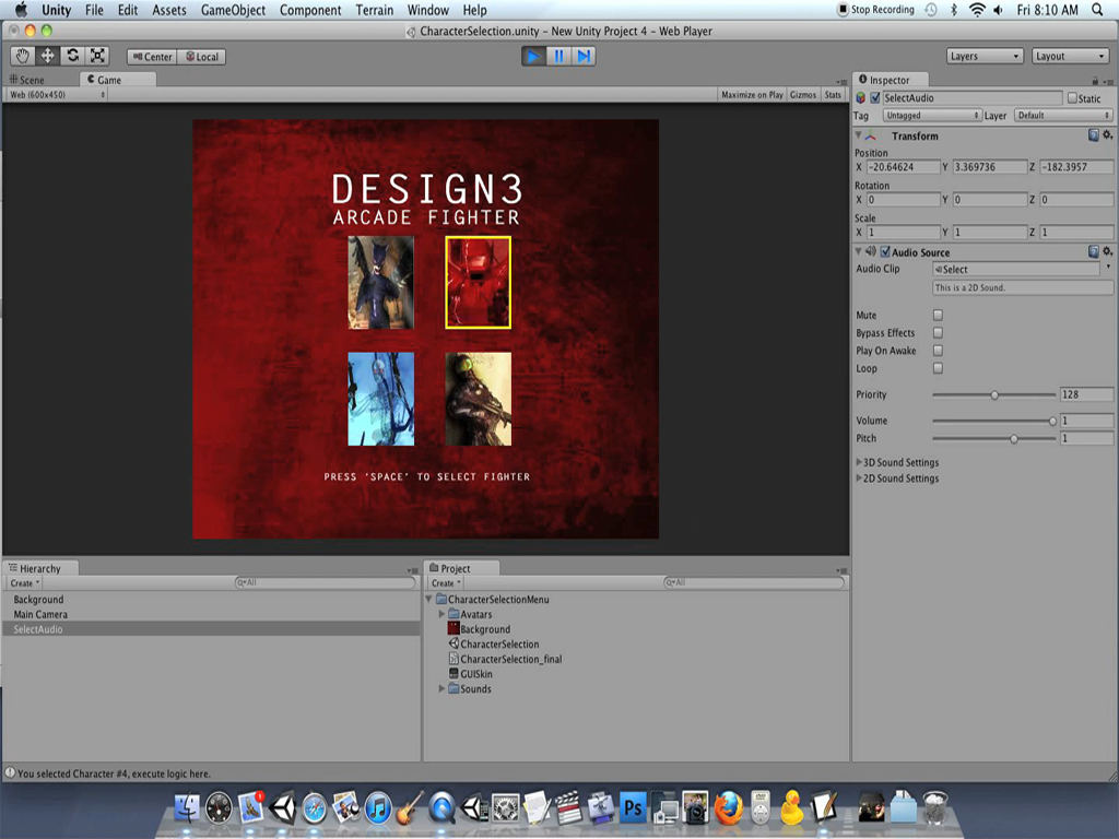 Unity Character Design Tutorial : Quot character selection menu in unity posted on design
