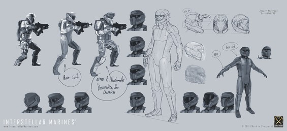 If you thought that the ITO Zero Environment Combat Suit would forever be one size fits all, well think again! :) We've internally started iterating on tons of various Interstellar Marines customization options, which will allow us all to personalize our preferred outfit within the standards of the ITO Special Forces.