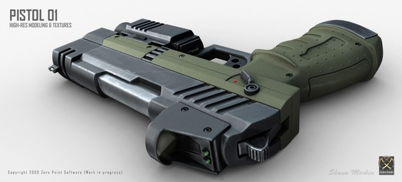 The pistol 01 concept is a very precise and reliable sidearm!