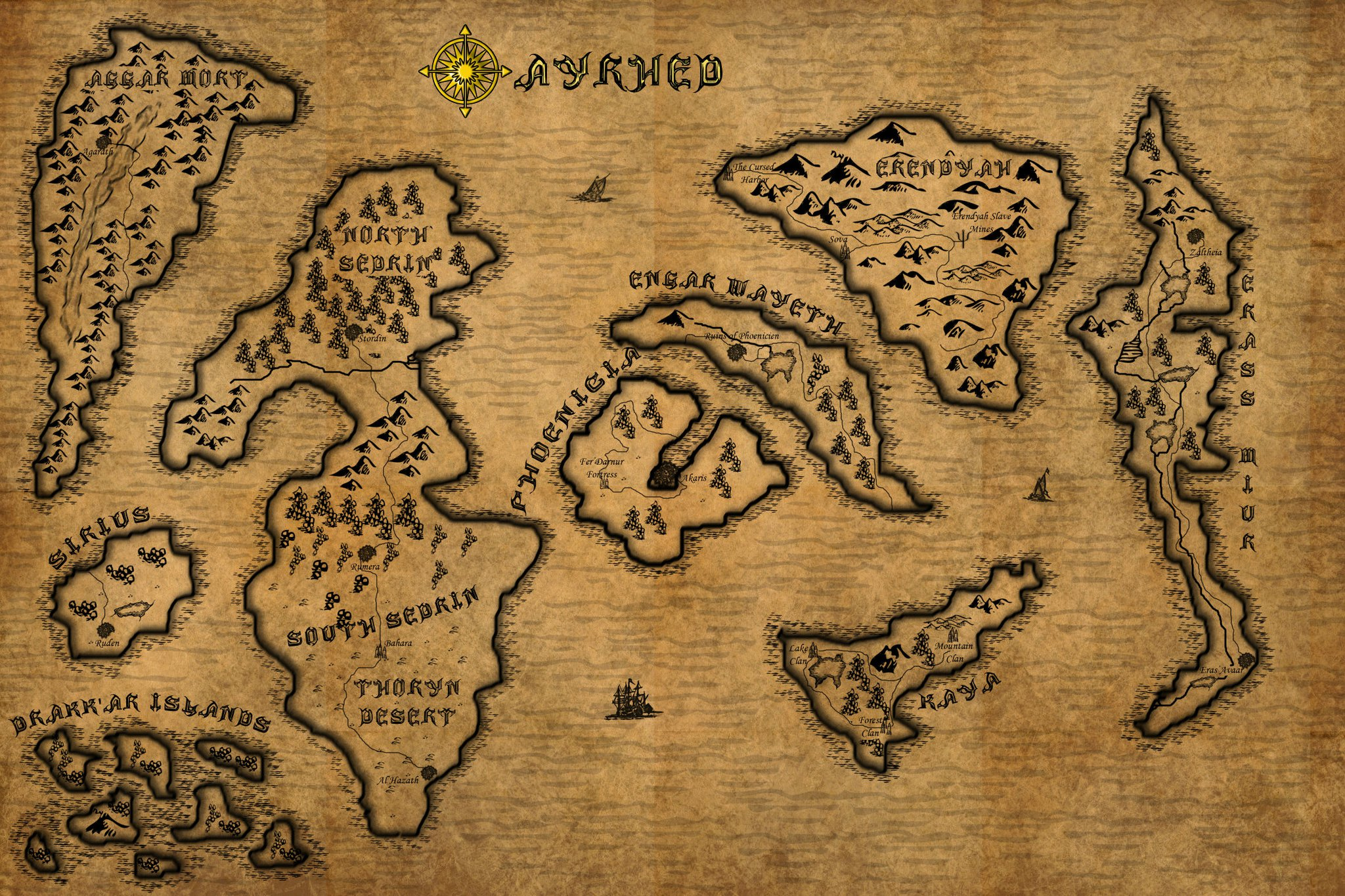 Ayrhed, the fictional world of EotGP