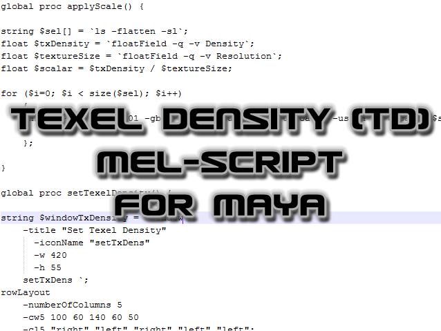 Maya: Texel Density (TD) tutorial - Indie DB