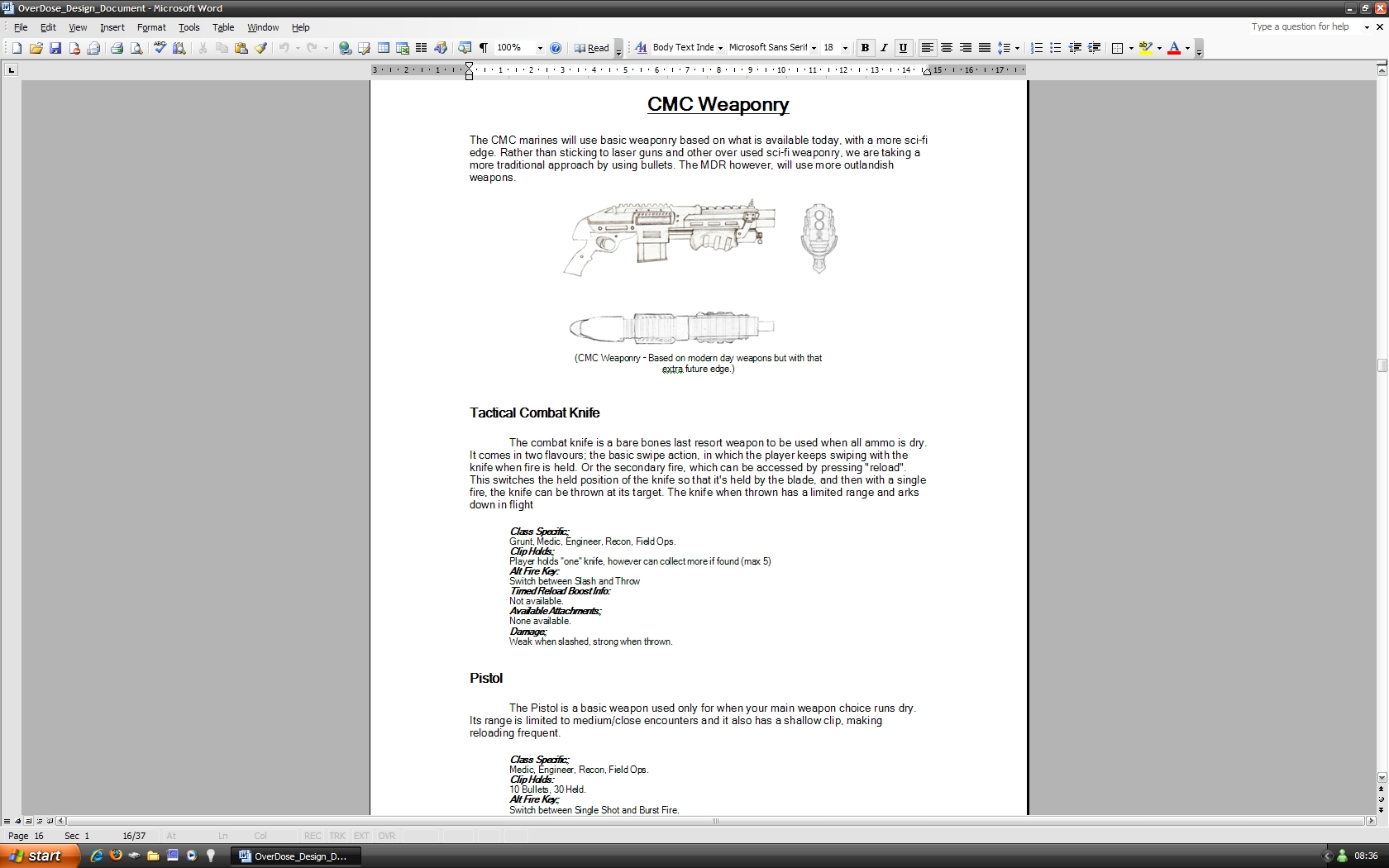 OverDose Game Design Document File Indie DB - Game design document download