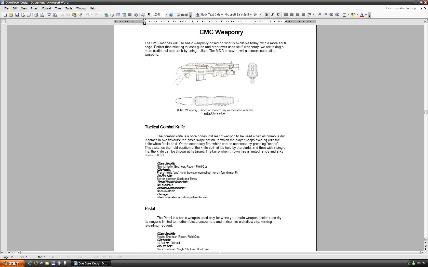 OverDose Game Design Document file - Indie DB