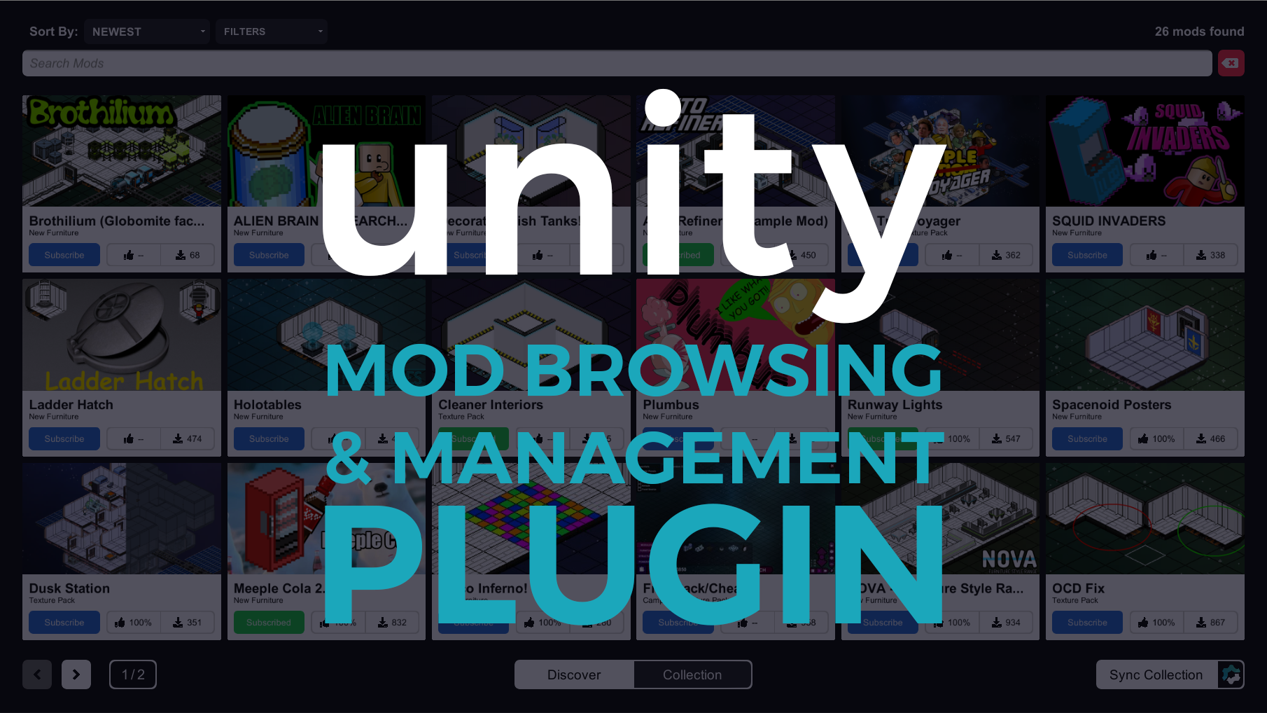 Unity Mod Browser & Manager file - Indie DB