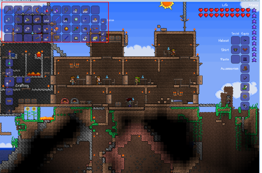 Player save [Not answering questions] addon - Terraria