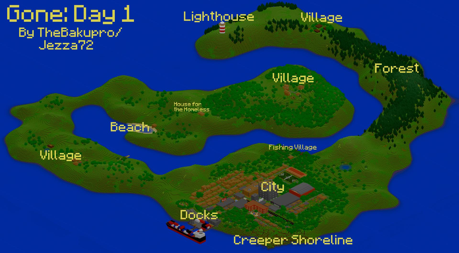 Gone: Day 1 (DayZ Inspired Custom Map) addon - Minecraft - Indie DB