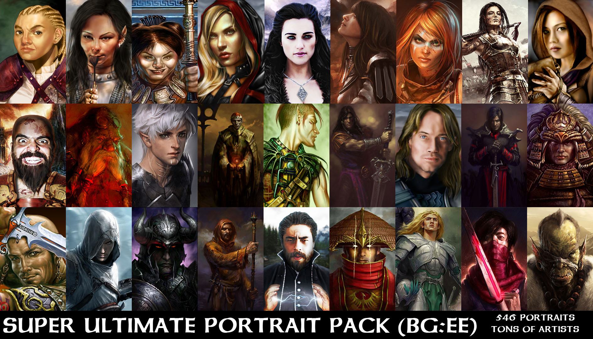 New portrait pack: faces of good and evil the beamblog.