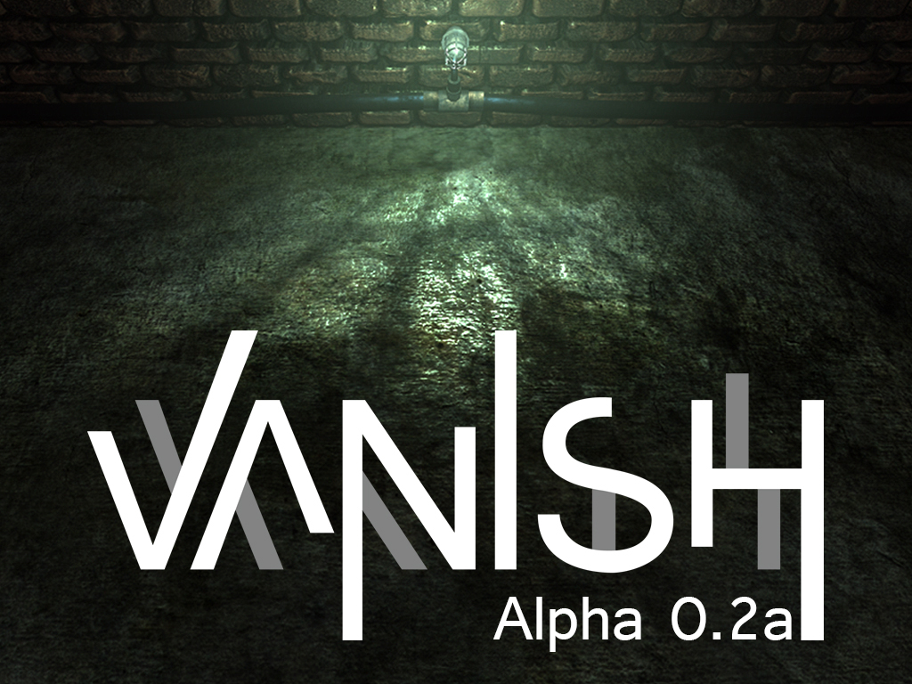 Vanish splash title