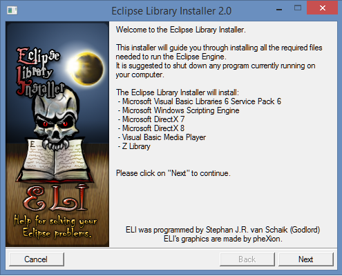 Eclipse Library Installer file - TORPG - Indie DB