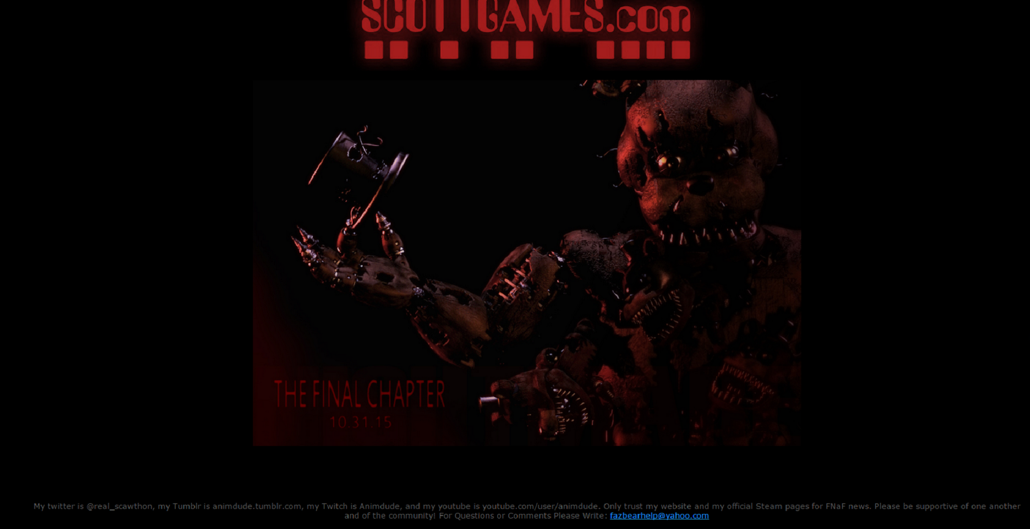 FNaF4:The Fan Made DEMO v 1 5 file - Indie DB