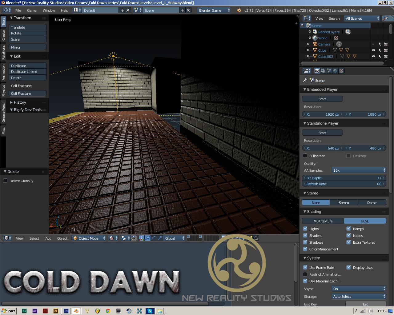 Cold Dawn Progress Level Building Image Blender Game